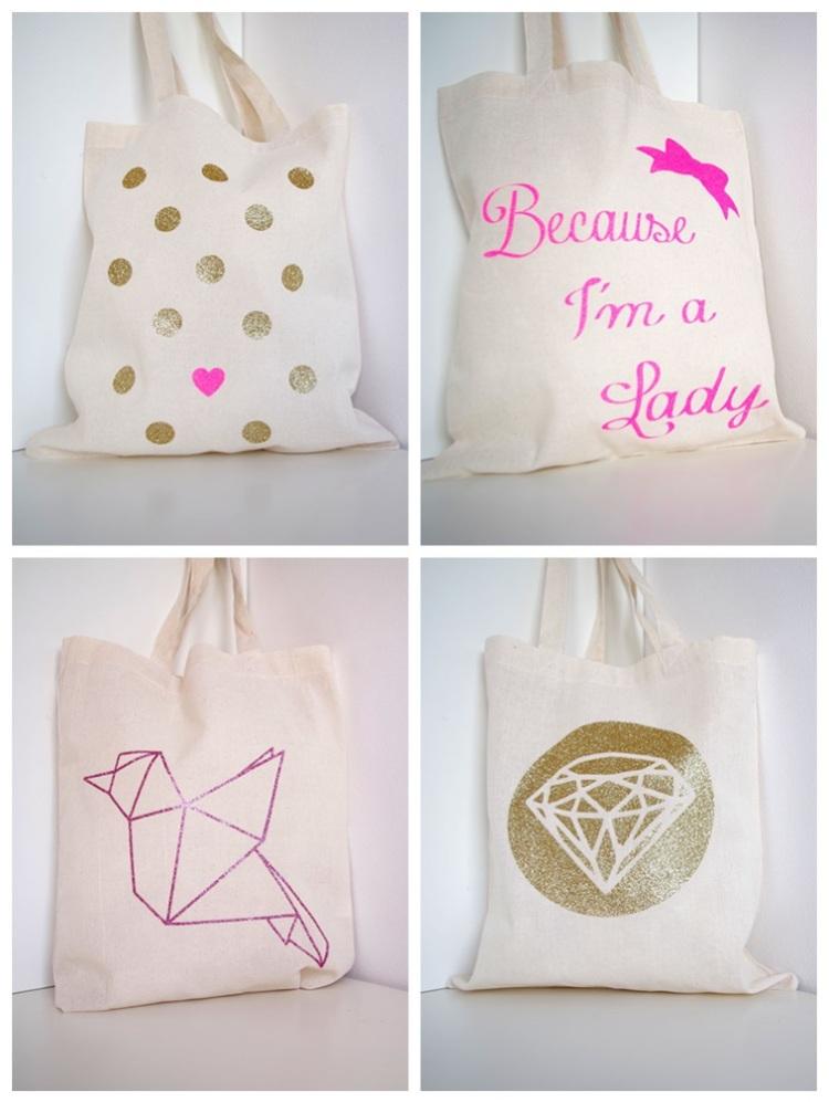 {DIY} Mon Tote Bag Girly à Paillette !