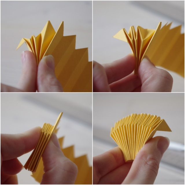 DIY cocarde origami fete unique